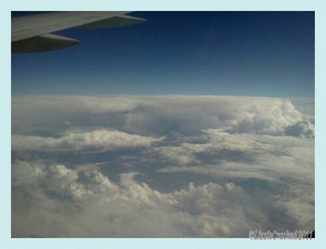 clouds, airplane view